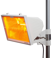 ML Accessories IP24 1300W Outdoor Infrared Heater with Mesh Grill (White)